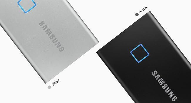 MU-PC500S//WW Silver 500GB Samsung T7 Touch Portable SSD USB 3.2