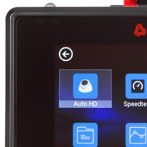 high resolution touchscreen security camera tester