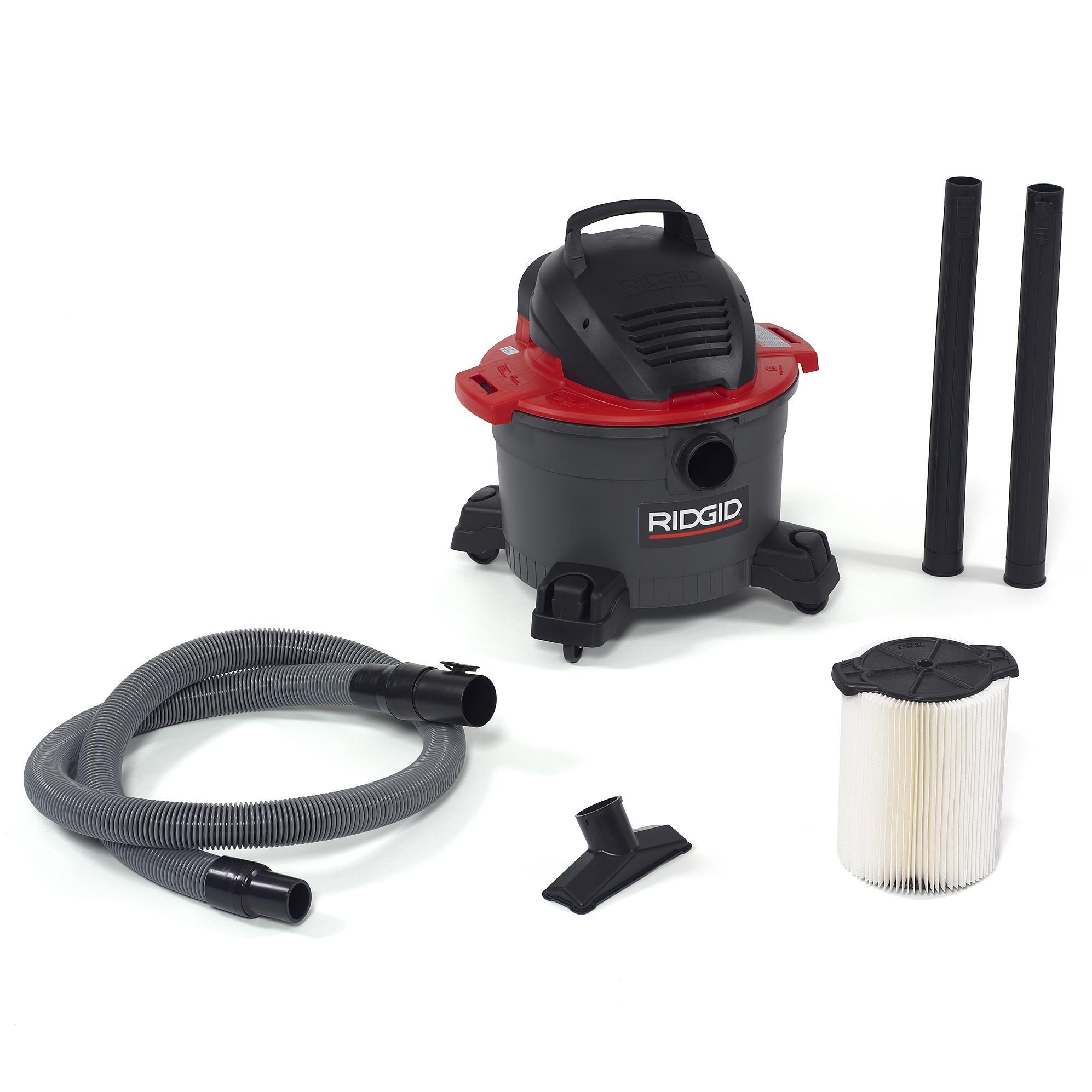 Ridgid Shop Vac Casters >> Ridgid 50308 Wet/Dry Vacuum, 6 gallon, Red: Amazon.ca: Tools & Home Improvement