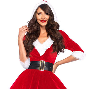 Details about  /Women Christmas Miss Claus Strappy Cami Tutu Skirt Santa Claus Dress Costume