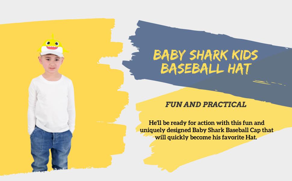 Baby Shark Toddler boy baseball hat Kids hat  Sun hat  Boy cap  sombrero de niños  gorra de niños