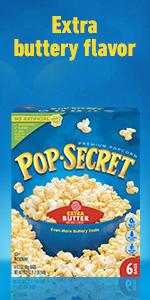 POP SECRET Extra Butter Popcorn Box