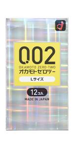 オカモトゼロツー0.02 Lサイズ 12コ入