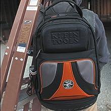 Klein, Klein tools, tool bag, tool backpack, backpack for tools, heavy duty, heavy duty backpack