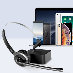 mpow truckers trucker bluetooth headset with mic truck driver skype wireless headset with microphone
