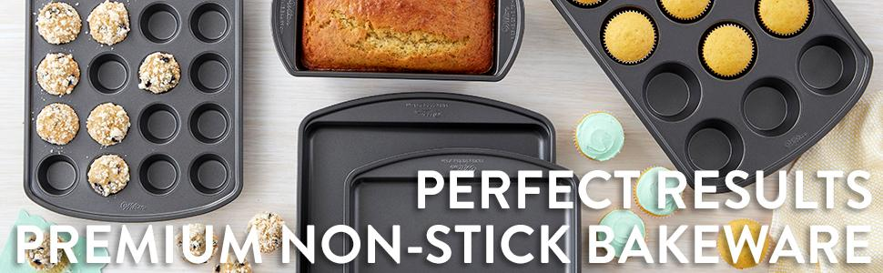 Wilton, Perfect Results Premium Non-Stick Bakeware, baking pans with large handles