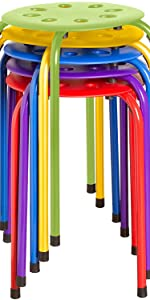 Stacking Stool SetStackable Nesting Stools/Chairs for Kids and Adults - Flexible Seating
