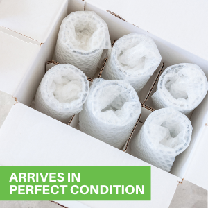 Each crystal water glass is packaged in triple-layer protection to prevent cracks during deliveries.