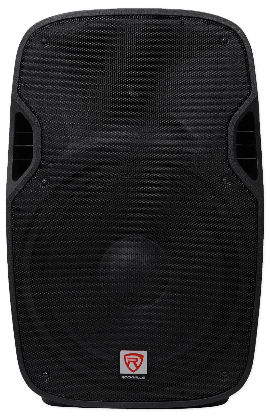 rockville spgn158 15 passive 1600w dj pa speaker abs lightweight cabinet 8 ohm. Black Bedroom Furniture Sets. Home Design Ideas