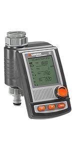 Gardena SelectControl para grifos de 20/27 y 26/34 según el Tipo de Uso. hasta 3 ciclos día. Duración de riego: 1 min-120 min.