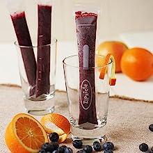 blueberry citrus Zipzicle ice pop