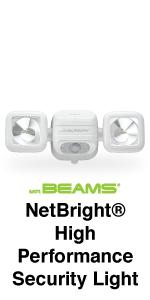 mr beams netbright, netbright high performance security light, dual head spotlight