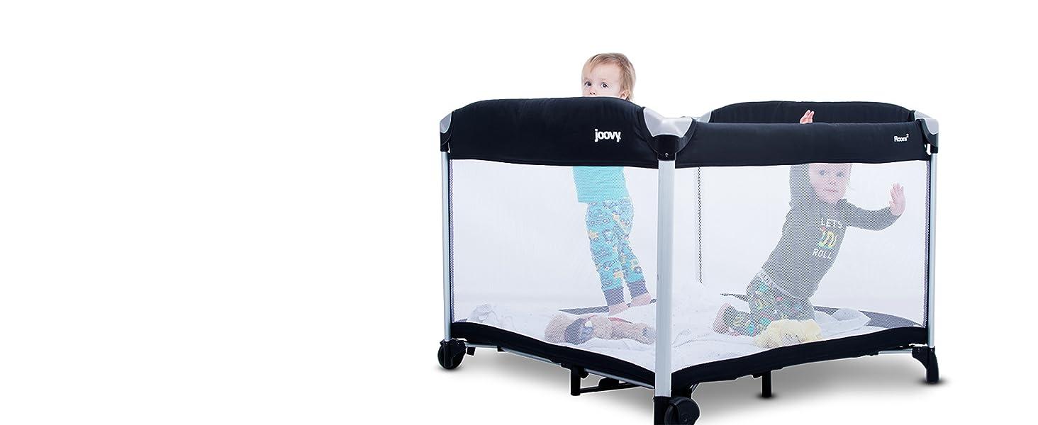 JOOVY New Room2 Portable Playard Black