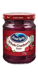 Ocean Spray Cranberry Sauce Whole Jelly Jellied Turkey Holidays Christmas Ham Family