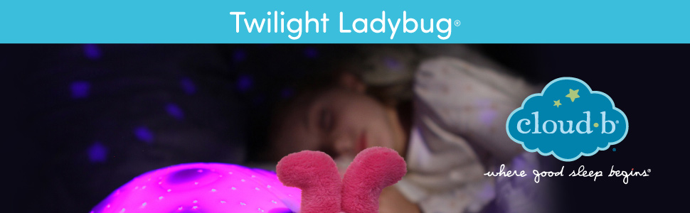 Cloud b Twilight Ladybug Pink Nightlight Soother