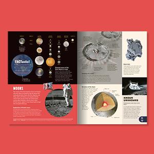 space solar system sun planets science core mantle crater crust size comparison moon landing