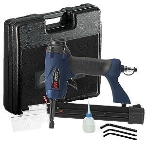 brad nailer, air stapler, air gun, campbell hausfeld nailer, campbell stapler