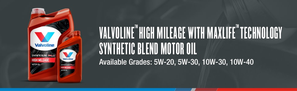 valvoline high mileage synthetic blend motor oil