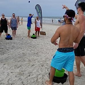 bulzibucket game cornhole beach