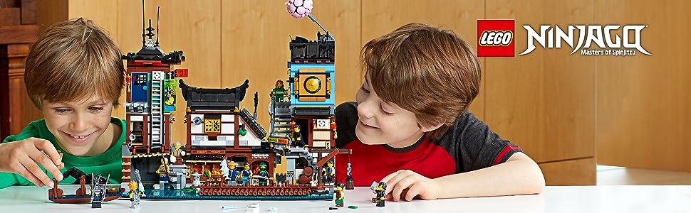 Amazon.com: The LEGO NINJAGO MOVIE NINJAGO City Docks 70657 ...