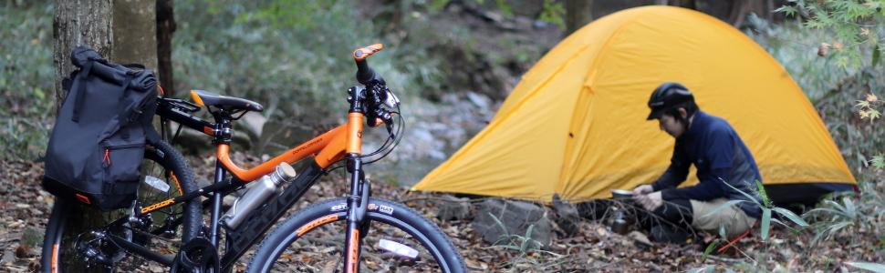 自転車 ツーリング バイクパッキング 輪行 ポタリング テント ドッペル グラベル ロードバイク 大径車 ランドナー サドルバッグ ハンドルバーバッグ トップチューブバッグ 新幹線 おすすめ 電車