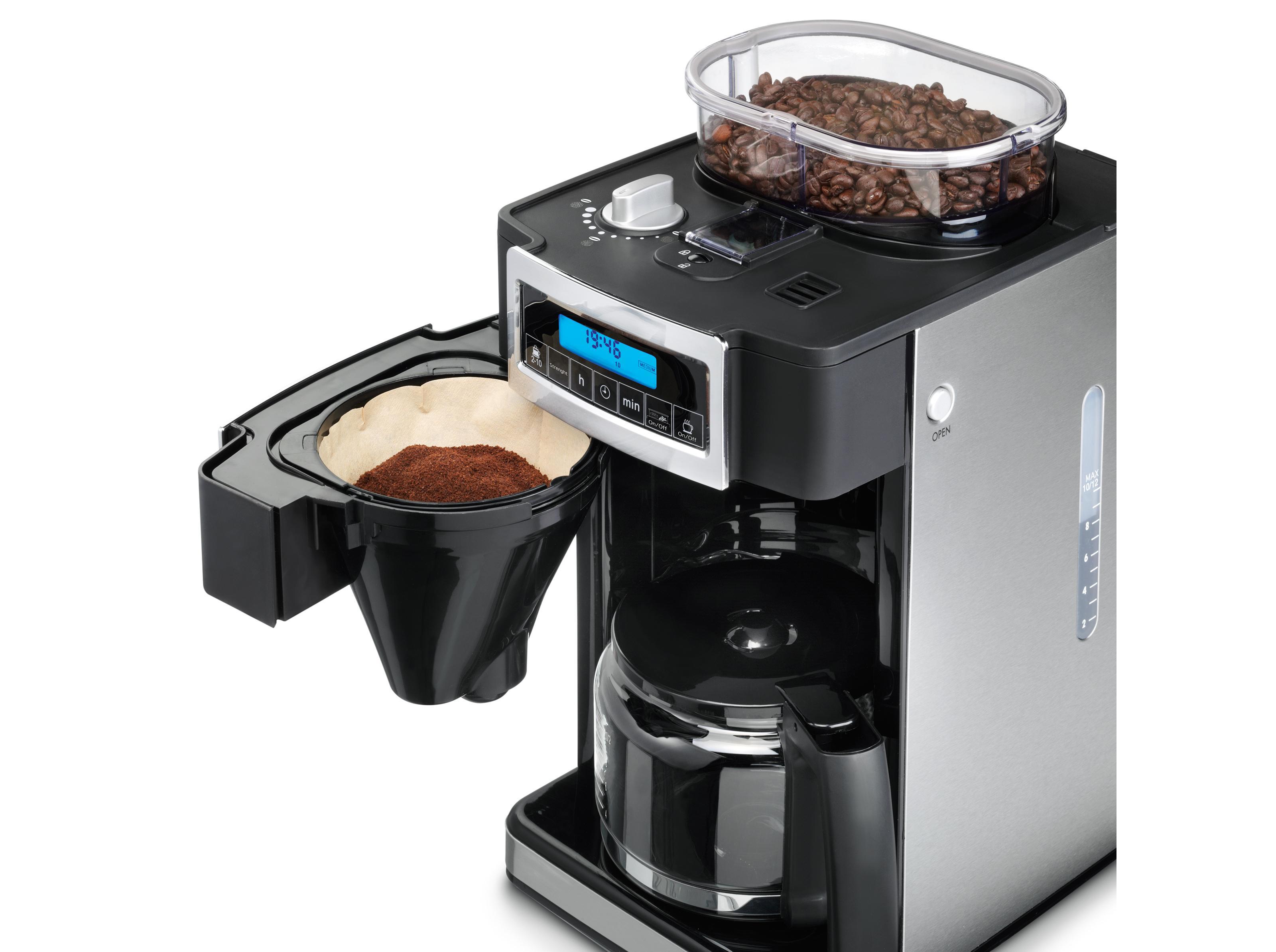 Princess 249402 - Cafetera con molinillo Deluxe, capacidad 1.25 l ...