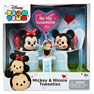 Disney Tsum Tsum Stack Vinyl Mickey Mouse Hearts Valentine Tsweeties