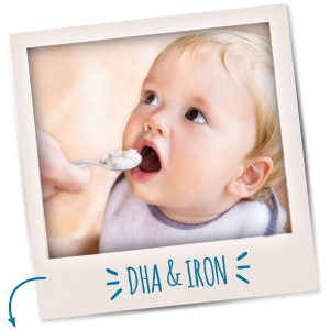 Made with DHA to help support your little one's healthy development
