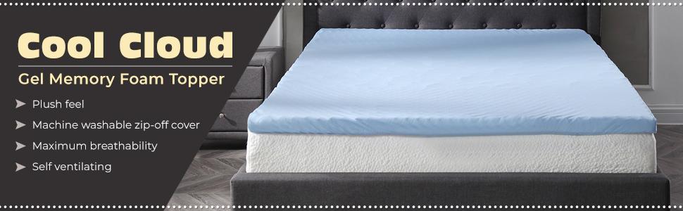 """Soft Sleeper 6.5 Queen 2/"""" Memory Foam Mattress Pad Top W//FREE PILLOW"""