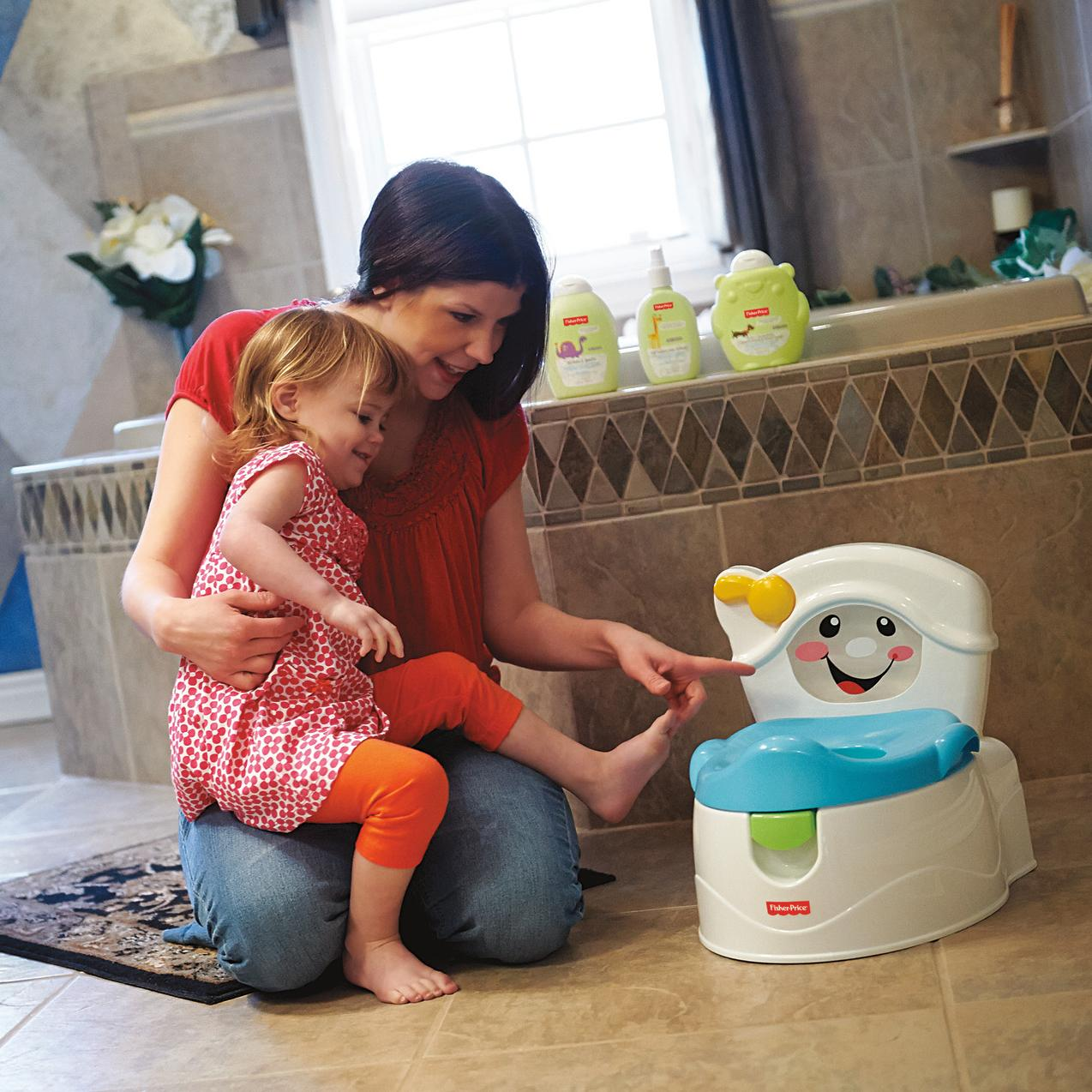Amazon.com : Fisher-Price Learn-to-Flush Potty : Toilet