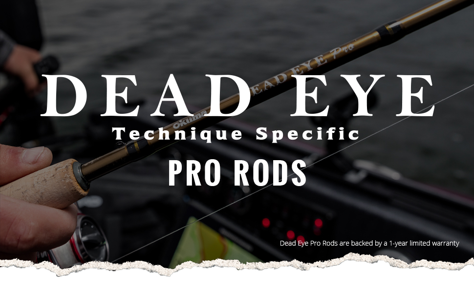 Okuma Fishing USA - Deadeye Pro Rods Header Image