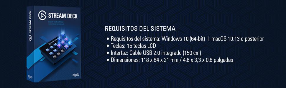 Elgato Stream Deck - Controlador para contenido en directo, 15 teclas LCD personalizables, soporte ajustable, Windows 10 y macOS 10.13 o posterior, Negro: Amazon.es: Informática