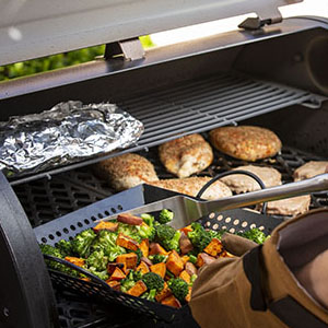 pit boss, grilling, veggie grill, pit boss smoker, pellet grill, smoker, grilling accessories, camp