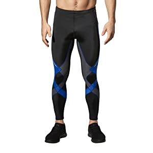 men's long stabilyx joint support compression tight in black