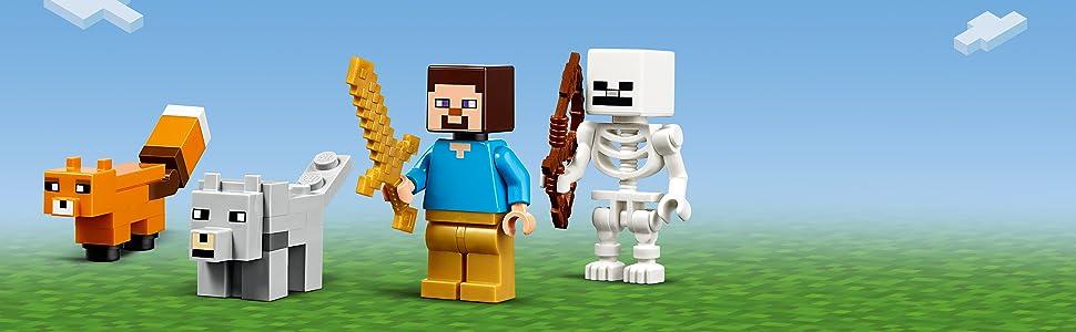 LEGO 21162 Minecraft The Taiga Adventure BAU-Set mit Steve