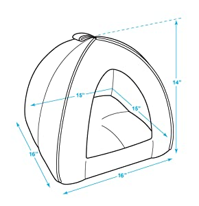 Spacious dimensions that any small breed dog or cat will appreciate  sc 1 st  Amazon.com & Amazon.com : Pet Tent - Soft Bed for Dog and Cat Best Pet ...