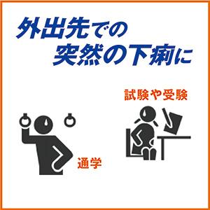 外出先での突然の下痢に「小中学生用ストッパ下痢止めEX」