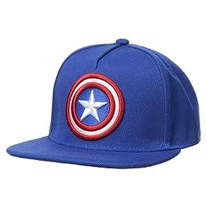 Marvel Gorra de béisbol para Hombre de Capitán América con Escudo ... 8ecf1444e46