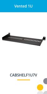 vented rack shelf
