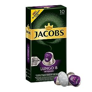Jacobs Kapseln Lungo Intenso - Intensität 8-50 Nespresso