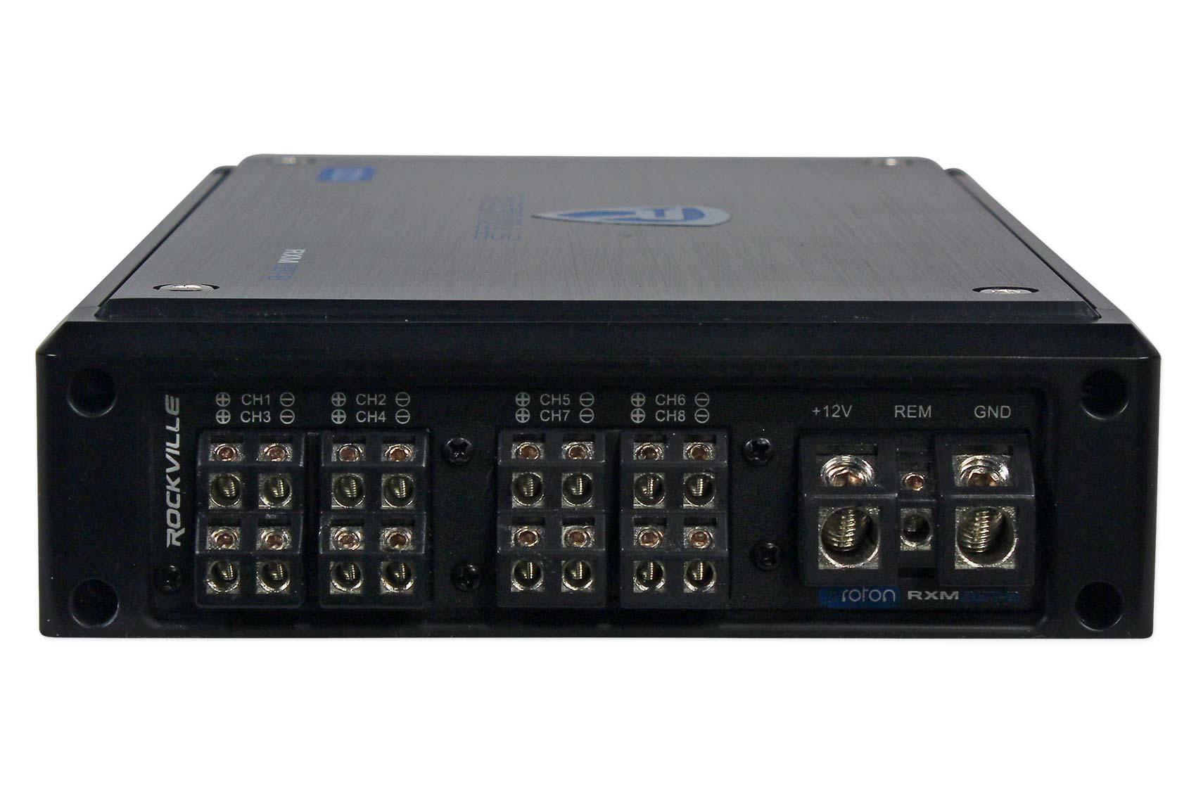 Amazon Com Rockville New Rxm8btb 8 Channel 1500 Watt