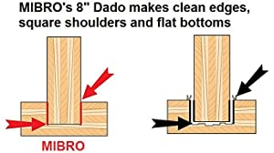 dado blade mibro freud cmt stacking wobble woodwork carpentry mill wood joinery