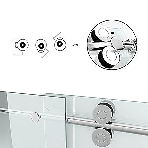 frameless shower doors, frameless glass shower doors