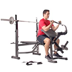 Amazon Com Body Champ Olympic Weight Bench With Preacher