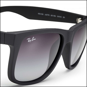 67e45649a Amazon.com: Ray-Ban Justin RB4165 Sunglasses-601/8G Rubber Black ...