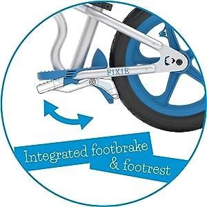 integrated footbrake, balance bike
