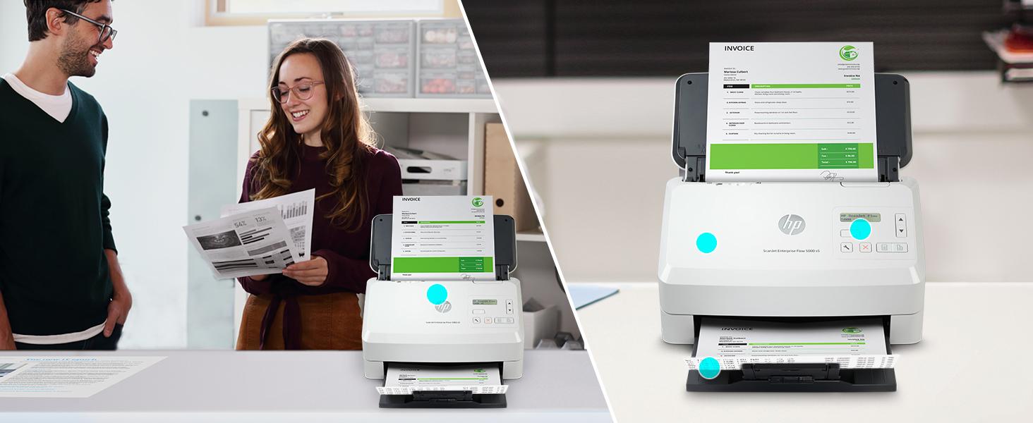 scanjet enterprise flow built-in OCR smart scanning professional-grade save time simplify scan jobs