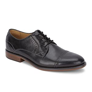 dockers, mens, dress shoe, black, brown, slip-on, lace-up, business casual, work shoes, professional