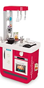 Smoby- Cocina Juguete Plegable, Color Rojo, Gris, única ...