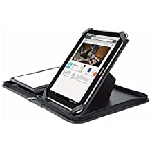 Wedo Accento 586901 Tablet Organiser Universal Holder 9 7 10 5 Inches Faux Leather Removable Holder Presentation Stand Zip Multiple Compartments Black Elektronik